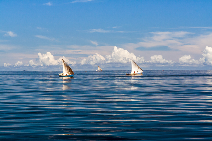 Fishing boats off Nosy Be, North of Madagascar